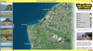 Capture du site Trail Côte d'Opale en Pas-de-Calais 2017