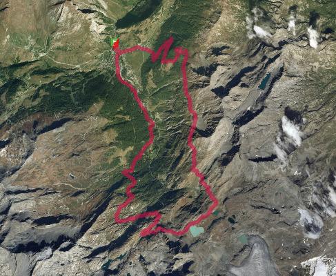 Trace de trail La Thuile Trail 2017