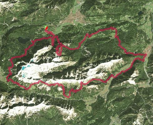 Trace de trail : Salomon Alpen X 100 Powered by Led Lenser