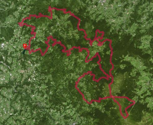 Calendrier Trail Auvergne.Trace De Trail Grands Trails D Auvergne 2020 360 Ultra